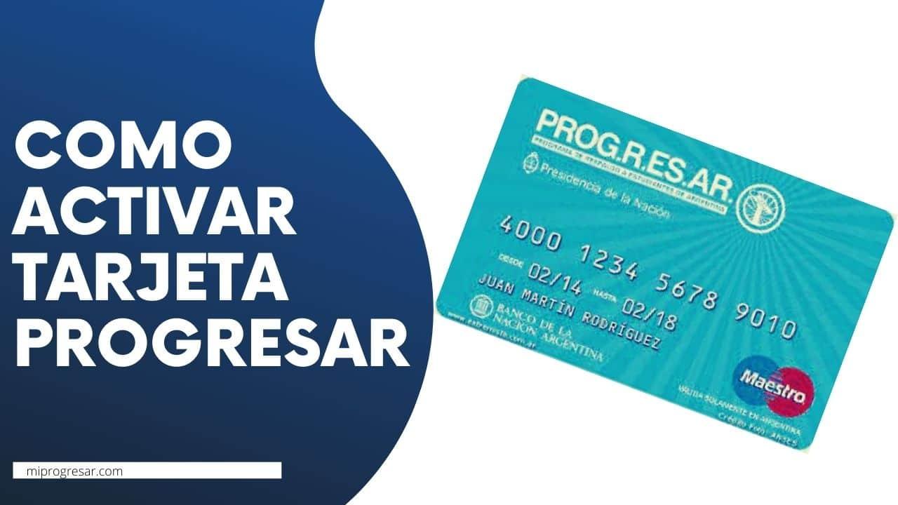 activar la tarjeta Progresar